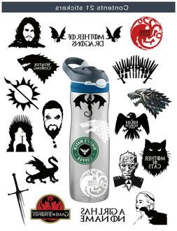 S-001 21pcs Game of Thrones Stickers Winter is Coming Fire a