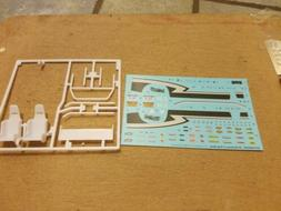 1/24, 1/25 scale Model Car Rear Wing Racing Seats And Decal