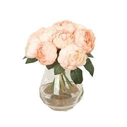 AMA 1 Bouquet 6 Heads Artificial Peony Silk Flower Real Touc