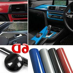 1 Roll 6D Carbon Fiber Vinyl Wrap Film High Glossy Decals Mo