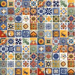 "100 Hand Painted Talavera Mexican Tiles 4""x4"" Spanish Influe"