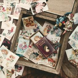100Pcs/Lot Vintage Paper Card Collection Of Books Retro Styl