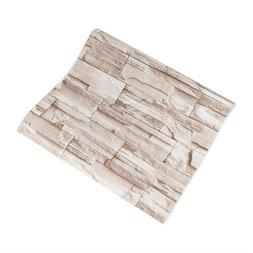 10M 3D Distressed Brick Stone Wall Paper Self Adhesive Wallp