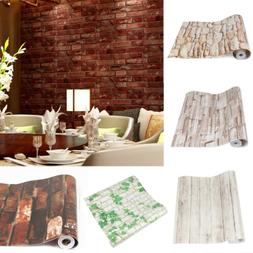 10M 3D Wallpaper Brick Pattern Self-adhesive Stickers Paper