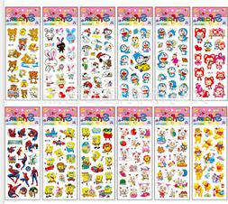 10pcs X sheets 3D Stickers Cartoon Kids Scrapbooking School