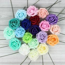 10X Colourfast Foam Roses Artificial Flowers Party Wedding B