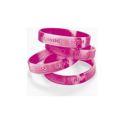 Fun Express 12 Ribbon Silicone Camouflage Bracelets Breast C