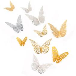 12pcs 3D Butterfly Wall Stickers Art Decals Home Baby Shower