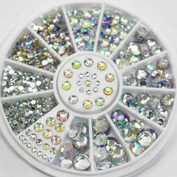 1Box Diamonds Dazzling Tips Nail Sticker Sequins Colorful Na
