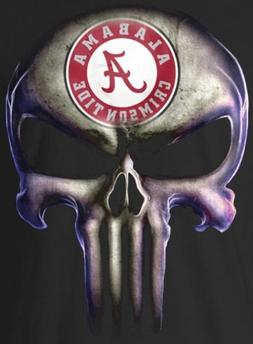 Alabama Crimson Tide Punisher Skull Stickers 5x3.7 Vinyl Ca