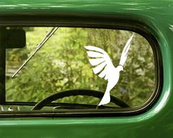 2 DOVE DECAL Peace Bird Stickers For Car Window Truck Bumper