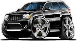 2007 Jeep Grand Cherokee SRT8 WALL DECAL Vintage 3D Car Mova