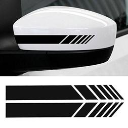 YOUNGFLY 2pcs Car Rear View Mirror Stickers Decor DIY Car Bo