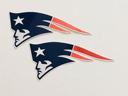 2x New England Patriots Car Bumper Window Laptop Wall Vinyl