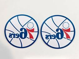 2x Philadelphia 76ers Car Bumper Laptop Wall  Home Décor Vi