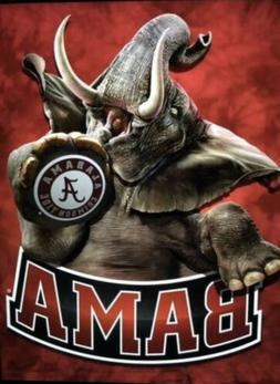 Alabama Crimson Tide Elephant Waterproof Vinyl Stickers 4x3