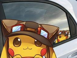 Cute Pikachu Pokemon Anime Car Window Cling Decal Sticker Re