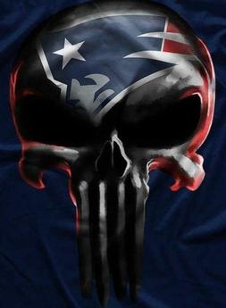 New England Patriots Punisher Skull Waterproof Vinyl Sticke