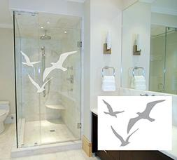 3 Seagulls - Coastal Design Series - Etched Decal - For Show