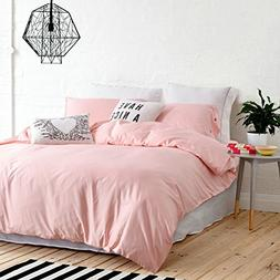 UFO Home 300 Thread Count 100% Cotton Sateen Light Pink Soli