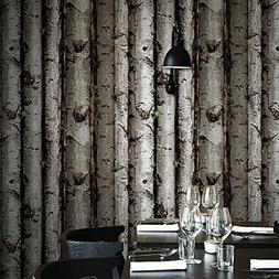 Blooming Wall:3d Birch Tree Wall Mural Wallpaper,20.8 In32.8