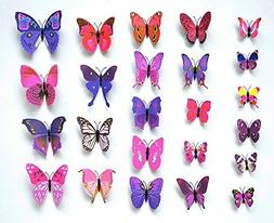 Sangu 3D Colorful Butterfly Removable Mural Wall Stickers Wa