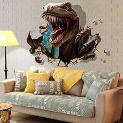 3D Cool Dinosaur Removable Wall Sticker Kids Bedroom Decal M
