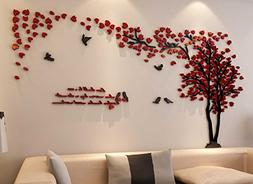 3d Couple Tree Wall Murals for Living Room Bedroom Sofa Back
