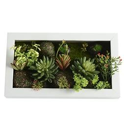 3D Artificial Flowers Wall Hanger Succulent Plants Moss on t