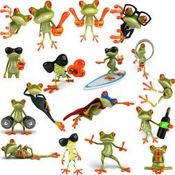 3D Funny Large Frog Car Window/wall Decal Graphic Stickers G