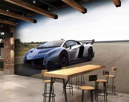 3D Highway Car 825 Wall Paper Exclusive MXY Wallpaper Mural