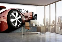 3D Red Car 895 Wall Paper Exclusive MXY Wallpaper Mural Deca