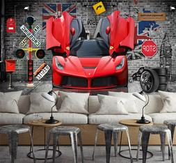 3D Sports Car 7521 Wall Paper Exclusive MXY Wallpaper Mural
