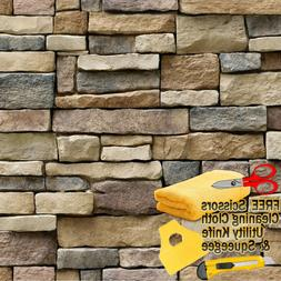 3D Stone Rock Wallpaper Background Modern Vinyl Film Sticker