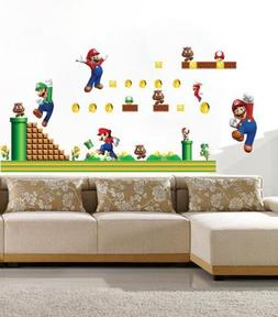 3D Super Mario Bros Removable HUGE Wall Stickers Decal Kids