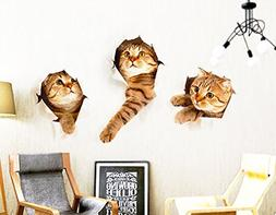 3D Wall Decals Stickers Vivid Decors Murals  for Room Home R