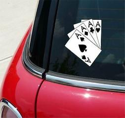 4 Aces Card Cards Poker Graphic Decal Sticker Car Vinyl