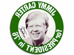 "4"" JIMMY CARTER FOR PRESIDENT IN '76 1976 CAR BUMPER  STICKE"