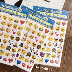4 Sheets Fun Emoji Stickers Die Cut Stickers Shell Paper Boo
