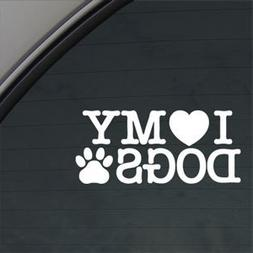 466 i love my dogs decal car