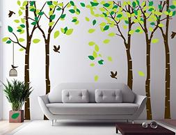 CaseFan 5 Trees Wall Decal Forest Mural Paper for Bedroom Ki