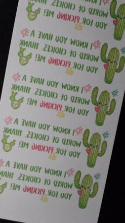 50 Cactus - World Of Choices, Thank You Stickers