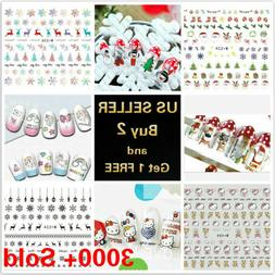 50 styles nail art stickers water decals