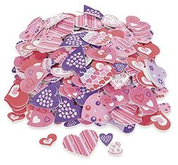 500 Colorful FUNKY HEART VALENTINE'S Day Foam STICKER SHAPES