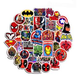 50pcs marvel avengers stickers for laptop font