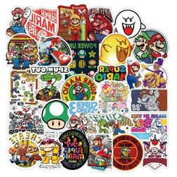50pcs Super Mario Kart Removable Wall Decal Stickers Luggage