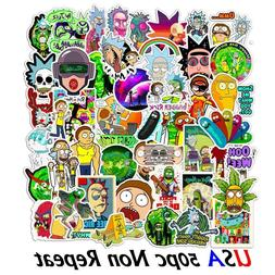 50x Rick and Morty Pickle Cartoon Vinyl Decal Stickers Skate