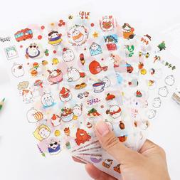 6 Sheets Kawaii Cartoon Rabbit Paper Sticker for Scrapbookin