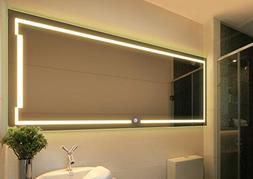 Best to Buy 60''X20'' Horizontal Anti-fog LED Bathroom Silve