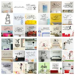 75 Styles Removable Quote Art Decor Vinyl Wall Sticker Mural
